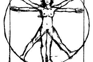 Mujer Vitruvio